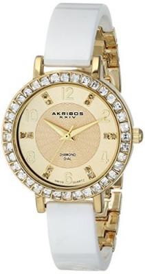 Akribos XXIV Women's AK758YGW Diamond and | 100% original, import SUA, 10 zile lucratoare af22508 foto
