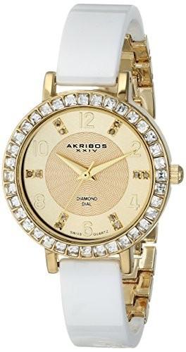 Akribos XXIV Women's AK758YGW Diamond and | 100% original, import SUA, 10 zile lucratoare af22508 foto mare