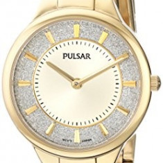Pulsar Women's PM2132 Gold-Tone Watch with | 100% original, import SUA, 10 zile lucratoare af22508 - Ceas dama Pulsar, Elegant, Quartz, Analog
