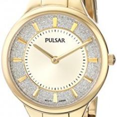 Pulsar Women's PM2132 Gold-Tone Watch with | 100% original, import SUA, 10 zile lucratoare af22508 - Ceas dama Pulsar, Analog