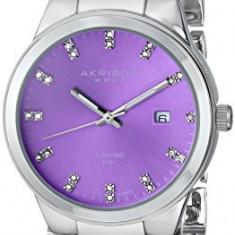 Akribos XXIV Women's AK759SSPU Lady Diamond | 100% original, import SUA, 10 zile lucratoare af22508 - Ceas dama Akribos, Analog