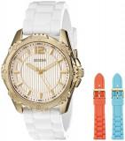 GUESS Women's U0592L1 Interchangeable Gold-Tone Mid-Size | 100% original, import SUA, 10 zile lucratoare af22508, Casual, Quartz, Analog