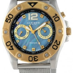 Akribos XXIV Women's AK553SSG Diamond Multi-Function | 100% original, import SUA, 10 zile lucratoare af22508 - Ceas dama Akribos, Casual, Analog
