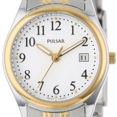 Pulsar Women's PXT588 Dress Two-Tone Stainless   100% original, import SUA, 10 zile lucratoare af22508 - Ceas dama Pulsar, Elegant, Quartz, Analog