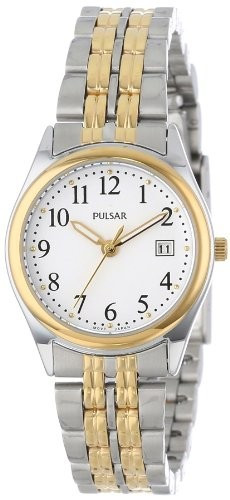 Pulsar Women's PXT588 Dress Two-Tone Stainless | 100% original, import SUA, 10 zile lucratoare af22508 foto mare