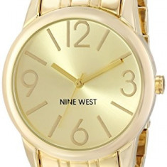 Nine West Women's NW 1578CHGB Champagne | 100% original, import SUA, 10 zile lucratoare af22508 - Ceas dama Nine West, Analog