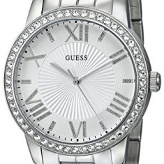 GUESS Women's U0329L1 Crystal-Accented Stainless Steel | 100% original, import SUA, 10 zile lucratoare af22508 - Ceas dama Guess, Casual, Quartz, Analog
