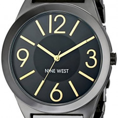 Nine West Women's NW 1585GNGN Gunmetal | 100% original, import SUA, 10 zile lucratoare af22508 - Ceas dama Nine West, Analog