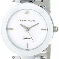 Anne Klein Women's AK 1465WTSV Diamond-Accented | 100% original, import SUA, 10 zile lucratoare af22508 - Ceas dama Anne Klein, Analog