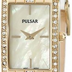 Pulsar Women's PRW010 Gold-Tone Swarovski Crystal | 100% original, import SUA, 10 zile lucratoare af22508 - Ceas dama Pulsar, Elegant, Quartz, Analog