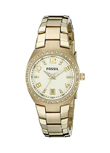 Fossil Women's AM4557 Serena Crystal-Accented Gold-Tone | 100% original, import SUA, 10 zile lucratoare af22508 foto mare