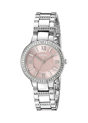 Fossil Women's ES3504 Virginia Crystal-Accented Stainless | 100% original, import SUA, 10 zile lucratoare af22508 foto