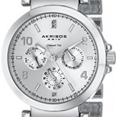Akribos XXIV Women's AK746SS Lady Diamond | 100% original, import SUA, 10 zile lucratoare af22508 - Ceas dama Akribos, Casual, Quartz, Analog