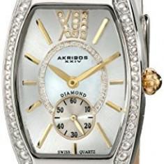 Akribos XXIV Women's AKR471WT Lady Diamond | 100% original, import SUA, 10 zile lucratoare af22508 - Ceas dama Akribos, Analog