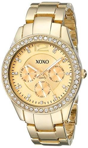 XOXO Women's XO5475 Rhinestone-Accented Gold-Tone Bracelet | 100% original, import SUA, 10 zile lucratoare af22508 foto mare