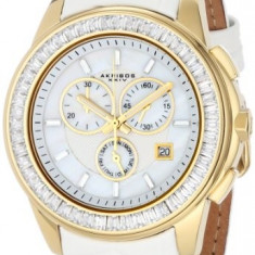 Akribos XXIV Women's AK621YGW Lady Diamond | 100% original, import SUA, 10 zile lucratoare af22508 - Ceas dama Akribos, Casual, Quartz, Analog