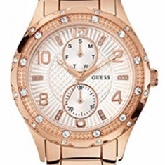 GUESS Women's U0442L3 Mid-Size Rose Gold-Tone | 100% original, import SUA, 10 zile lucratoare af22508 - Ceas dama Guess, Casual, Quartz, Analog