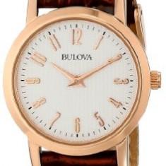 Bulova Women's 97L121 Leather Strap Watch | 100% original, import SUA, 10 zile lucratoare af22508 - Ceas dama Bulova, Analog