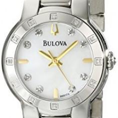 Bulova Women's 96R173 Diamond Case Watch | 100% original, import SUA, 10 zile lucratoare af22508 - Ceas dama Bulova, Analog