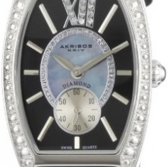 Akribos XXIV Women's AKR471BK Lady Diamond | 100% original, import SUA, 10 zile lucratoare af22508 - Ceas dama Akribos, Analog