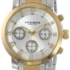 Akribos XXIV Women's AK623TT Grandiose Two-Tone | 100% original, import SUA, 10 zile lucratoare af22508, Casual, Quartz, Analog