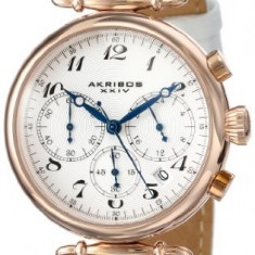 Akribos XXIV Women's AK630RGW Rose-Tone Stainless | 100% original, import SUA, 10 zile lucratoare af22508 - Ceas dama Akribos, Casual, Quartz, Analog