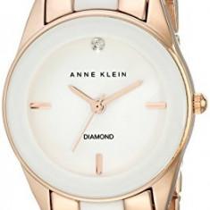 Anne Klein Women's AK 1974WTRG Diamond-Accented | 100% original, import SUA, 10 zile lucratoare af22508 - Ceas dama Anne Klein, Analog