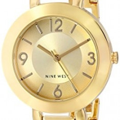 Nine West Women's NW 1630CHGB Champagne | 100% original, import SUA, 10 zile lucratoare af22508 - Ceas dama Nine West, Analog