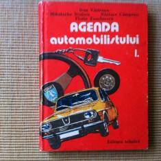 AGENDA AUTOMOBILULUI VOL 1 carte auto moto ilustrata desene editura tehnica 1984 - Carti auto