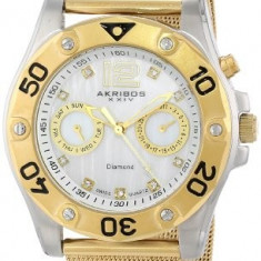 Akribos XXIV Women's AK553YG Diamond Gold-Tone | 100% original, import SUA, 10 zile lucratoare af22508, Casual, Quartz, Analog