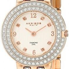 Akribos XXIV Women's AK598RG Impeccable Diamond | 100% original, import SUA, 10 zile lucratoare af22508 - Ceas dama Akribos, Casual, Quartz, Analog