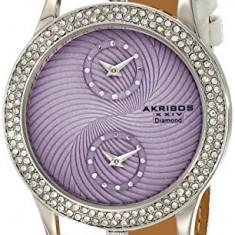 Akribos XXIV Women's AK569WT Lady Diamond | 100% original, import SUA, 10 zile lucratoare af22508 - Ceas dama Akribos, Elegant, Quartz, Analog