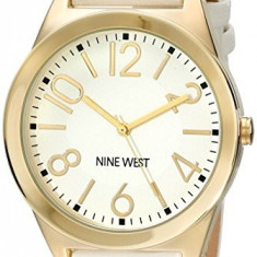Nine West Women's NW 1660WTWT Gold-Tone | 100% original, import SUA, 10 zile lucratoare af22508 - Ceas dama Nine West, Analog