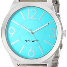Nine West Women's NW 1585TLSB Turquoise | 100% original, import SUA, 10 zile lucratoare af22508 - Ceas dama Nine West, Casual, Quartz, Analog
