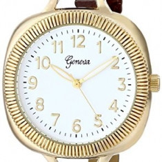 Geneva Women's 2392A-GEN Gold-Tone Watch with   100% original, import SUA, 10 zile lucratoare af22508 - Ceas dama Geneva, Casual, Quartz, Analog
