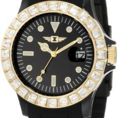 Invicta Women's IBI-10067-008 Gold Dial Black | 100% original, import SUA, 10 zile lucratoare af22508 - Ceas dama Invicta, Casual, Quartz, Analog