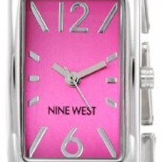 Nine West Women's NW 1575PKSB Rectangular | 100% original, import SUA, 10 zile lucratoare af22508 - Ceas dama Nine West, Casual, Quartz, Analog