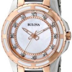 Bulova Women's 98P134 Diamond Dial Watch   100% original, import SUA, 10 zile lucratoare af22508 - Ceas dama Bulova, Analog