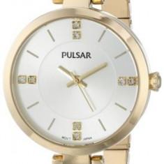 Pulsar Women's PH8034 Crystal-Accented Gold-Tone Watch | 100% original, import SUA, 10 zile lucratoare af22508 - Ceas dama Pulsar, Elegant, Quartz, Analog
