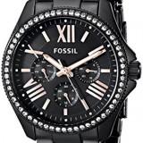 Fossil Women's AM4522 Cecile Crystal-Accented Black | 100% original, import SUA, 10 zile lucratoare af22508 - Ceas dama Fossil, Analog