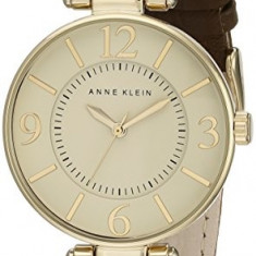 Anne Klein Women's 109168IVBN Gold-Tone and | 100% original, import SUA, 10 zile lucratoare af22508 - Ceas dama Anne Klein, Elegant, Quartz, Analog