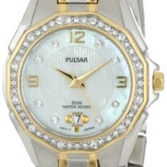 Pulsar Women's PXT798 Crystal Mother of | 100% original, import SUA, 10 zile lucratoare af22508 - Ceas dama Pulsar, Elegant, Quartz, Analog