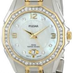 Pulsar Women's PXT798 Crystal Mother of | 100% original, import SUA, 10 zile lucratoare af22508 - Ceas dama Pulsar, Analog