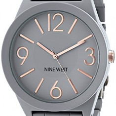 Nine West Women's NW 1678GYRG Gray | 100% original, import SUA, 10 zile lucratoare af22508 - Ceas dama Nine West, Analog