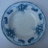 Impresionanta farfurie pentru supa din portelan GOTA Original, anii 1900, Farfurii