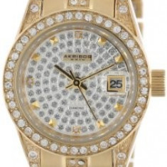 Akribos XXIV Women's AK487YG Diamond Quartz | 100% original, import SUA, 10 zile lucratoare af22508 - Ceas dama Akribos, Elegant, Analog