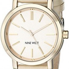 Nine West Women's NW 1720NTNT Gold-Tone | 100% original, import SUA, 10 zile lucratoare af22508 - Ceas dama Nine West, Analog