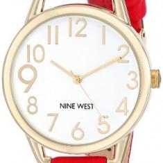 Nine West Women's NW 1582WTRD Gold-Tone | 100% original, import SUA, 10 zile lucratoare af22508 - Ceas dama Nine West, Casual, Quartz, Analog