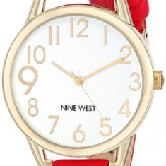 Nine West Women's NW 1582WTRD Gold-Tone | 100% original, import SUA, 10 zile lucratoare af22508 - Ceas dama Nine West, Analog