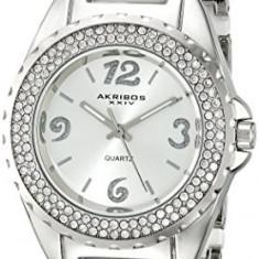 Akribos XXIV Women's AK514WT Silver-Tone Watch | 100% original, import SUA, 10 zile lucratoare af22508, Casual, Quartz, Analog